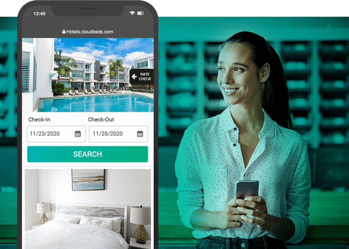 Cloudbeds online booking engine for hotels