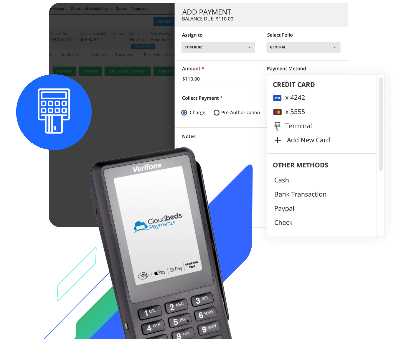 Cloudbeds payment processing